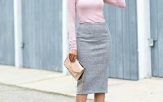 Трикотажные юбки на резинке с чем носить. С чем носить синюю и белую трикотажную юбку и фото, что носить с черной юбкой. Юбка-миди из трикотажа