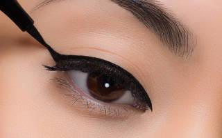 Как научиться рисовать маленькие стрелки. Правильные стрелки на глазах: как нарисовать пошагово. Как правильно нарисовать стрелки на глазах — карандашом, подводкой? Как правильно рисовать стрелки на больших глазах