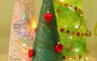Как сделать из картона поделку для елки. Креативные елки своими руками – пошаговый мастер-класс