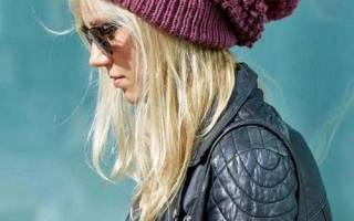 Вязаная мода тренды шапки. Как связать модную шапку спицами для женщины: пошаговые фото и видео инструкции вязания самых модных фасонов теплых зимних шапок и шапок на весну со схемами