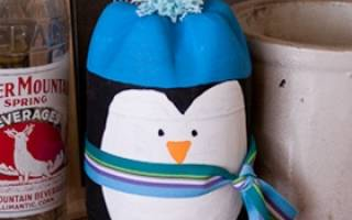 Пингвин который сам собирается из бумаги. Пингвины из пластиковых бутылок пошагово
