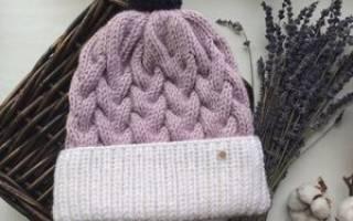 Как сокращать петли на шапке спицами. Как связать шапку двумя спицами
