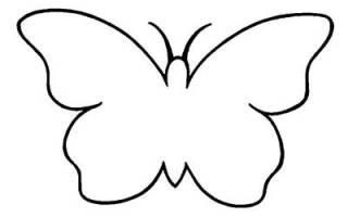 Как вырезать красивые бабочки из бумаги пошагово. Трафареты бабочек для декора