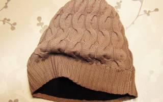 Как вшить флисовый подклад в вязаную шапку. Как сшить подкладку для готовой шапки