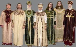 Во что одевались русские люди в старину. Старинная русская одежда