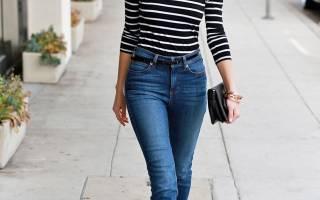 С чем носить джинсы разных фасонов? Что носить с джинсами весной? Много стильных идей