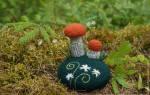 Вязаные грибы крючком, вязаные крючком грибы. Игольница «Грибная полянка» крючком