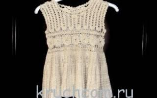 Связать детское платье крючком со схемами. Платья, сарафаны крючком