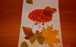Детские осенние аппликации из листьев. Аппликация на тему осень: фото, идеи и мастер-классы