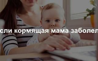 Если заболела кормящая мама заболеет ли ребенок. Что делать, если у кормящей мамы простуда
